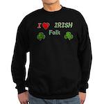 Love Irish Folk Sweatshirt (dark)