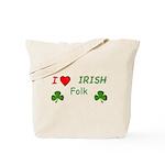 Love Irish Folk Tote Bag