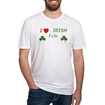 Love Irish Folk Fitted T-Shirt