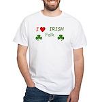 Love Irish Folk White T-Shirt