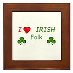 Love Irish Folk Framed Tile