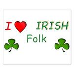 Love Irish Folk Small Poster