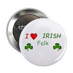 """Love Irish Folk 2.25"""" Button"""