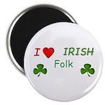 """Love Irish Folk 2.25"""" Magnet (100 pack)"""