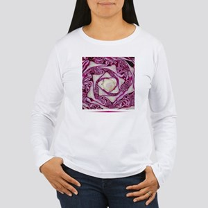 Purple Cabbage Women's Long Sleeve T-Shirt