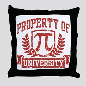 Property of Pi University Throw Pillow