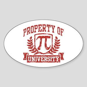 Property of Pi University Sticker (Oval)