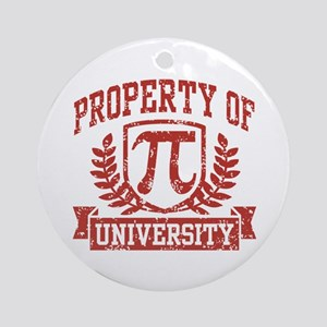 Property of Pi University Ornament (Round)