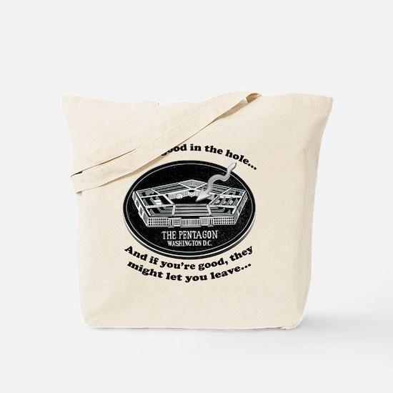 Pentagon Joke Tote Bag