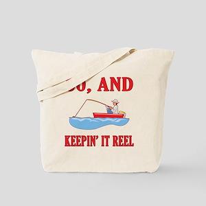 60 And Keepin' It Reel Tote Bag