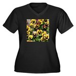 Bright Pansies Women's Plus Size T-Shirt