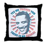 Nobama change Throw Pillow