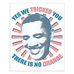 Nobama change Small Poster