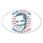 Nobama change Sticker (Oval)