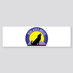 Runs with Wolves Sticker (Bumper)