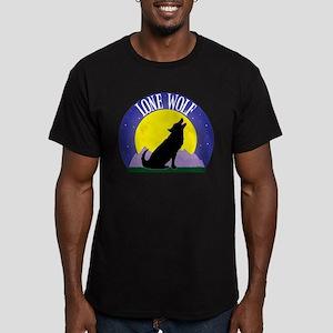 Lone Wolf Men's Fitted T-Shirt (dark)