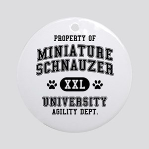 Property of Miniature Schnauzer Univ. Ornament (Ro