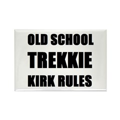 Old School Trekkie Rectangle Magnet (100 pack)