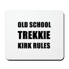 Old School Trekkie Mousepad