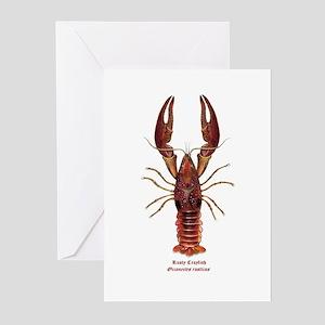 Rusty Crayfish Greeting Cards (Pk of 10)