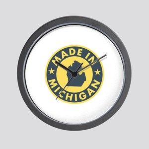 Made in Michigan Wall Clock