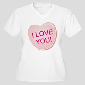 I Love You Heart Women's Plus Size V-Neck T-Shirt