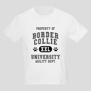 Property of Border Collie Univ. Kids Light T-Shirt