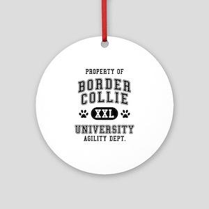 Property of Border Collie Univ. Ornament (Round)