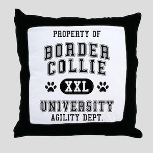 Property of Border Collie Univ. Throw Pillow