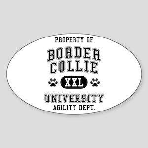 Property of Border Collie Univ. Sticker (Oval)