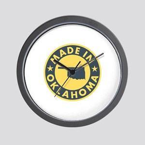 Made in Oklahoma Wall Clock