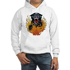 Flaming Panther Hoodie