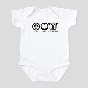 Peace Love Bodybuilding Infant Bodysuit