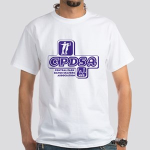 CPDSA NYC Men's White t-shirt with purple logo