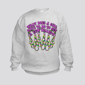 Sexy Mardi Gras Kids Sweatshirt
