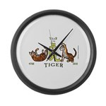 Chinese New Year 2010 Tiger Large Wall Clock