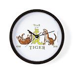 Chinese New Year 2010 Tiger Wall Clock