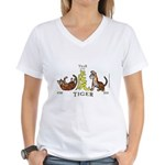 Chinese New Year 2010 Tiger Women's V-Neck T-Shirt