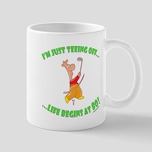 Teeing Off At 80 Mug