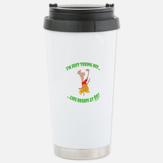 Teeing Off At 80 Stainless Steel Travel Mug