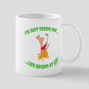 Teeing Off At 60 Mug