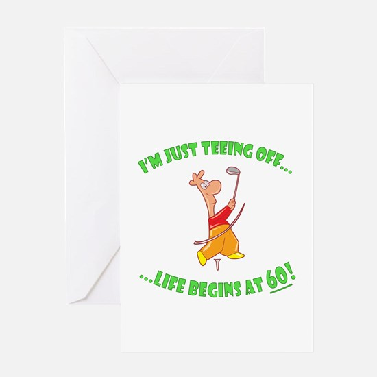 Teeing Off At 60 Greeting Card