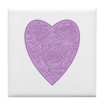 Purple Heart Tile Coaster