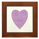 Purple Heart Framed Tile