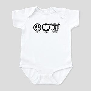 Peace Love Train Infant Bodysuit