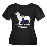 What a Weiner! Women's Plus Size Scoop Neck Dark T