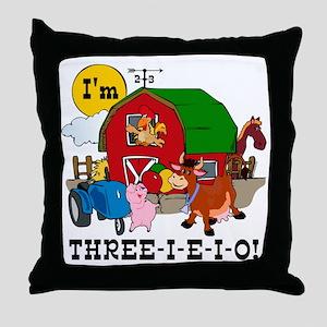 THREE-I-E-O Throw Pillow