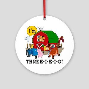 THREE-I-E-O Ornament (Round)