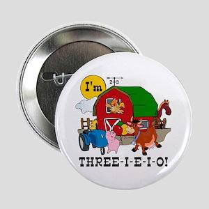 """THREE-I-E-O 2.25"""" Button"""