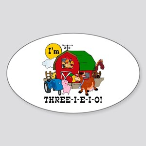 THREE-I-E-O Sticker (Oval)